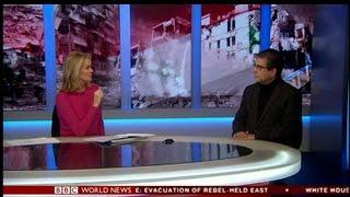 Refugees International President Michel Gabaudan discusses Aleppo on BBC World News America
