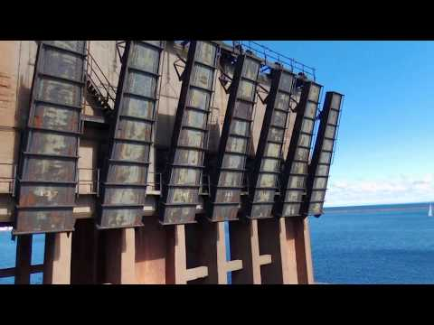 Exploring The Abandoned Ore Dock In Marquette Michigan