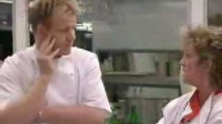 Amanda Barrie Hitting Gordon Ramsay In Hells Kitchen Uk Youtube