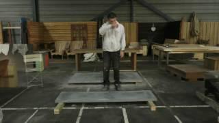 Tafelblad van beton testen (gfrc)