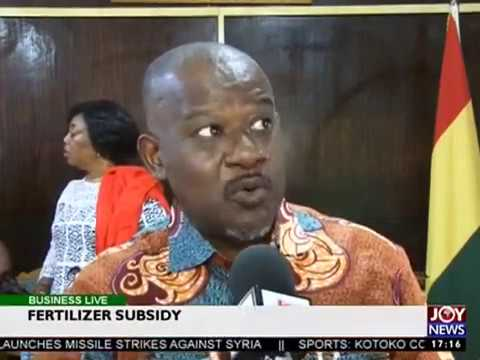 Fertilizer Subsidy - Business Live on JoyNews (7-4-17)