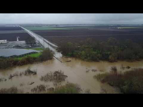 Flooding at Davis Rd Salinas, CA