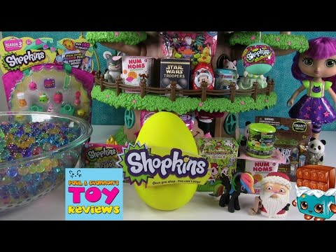 Blind Bag Treehouse #39 | Play-Doh Surprise Eggs Shopkins Or