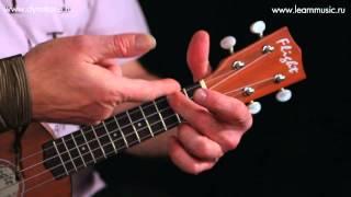 Видео урок: как играть песню A Hard Day's Night - The Beatles на укулеле (гавайская гитара)
