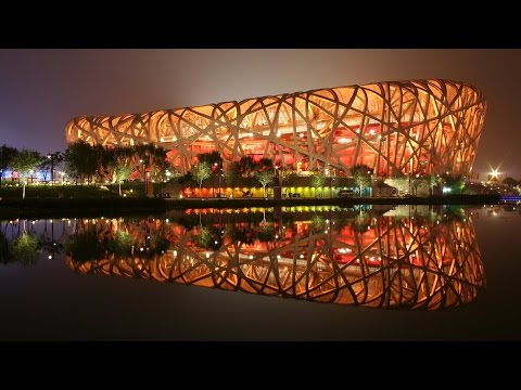 Trip to China Beijing National Stadium Bird's Nest