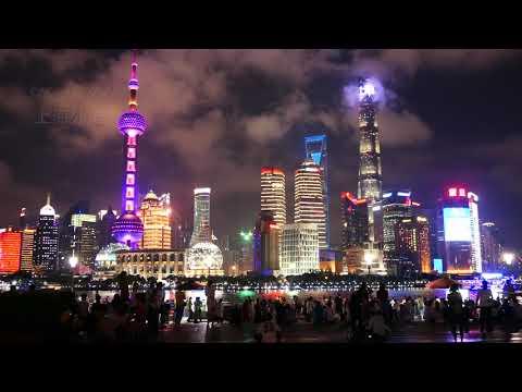 上海外灘夜景-自然音樂系列-(4K video 影片)-Shanghai Bund ...