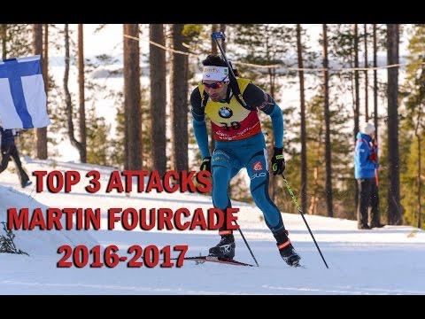 Martin fourcade - Top 3 attacks - 2016/2017