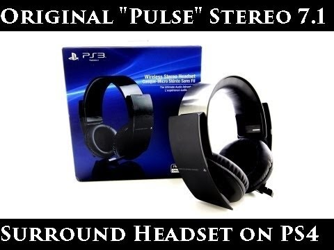 original sony stereo virtual 7 1 surround wireless headset. Black Bedroom Furniture Sets. Home Design Ideas