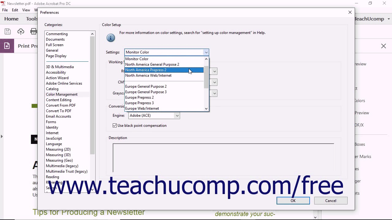 Acrobat Pro DC - Color Management and Conversion - Adobe Acrobat Pro DC  Training Tutorial Course