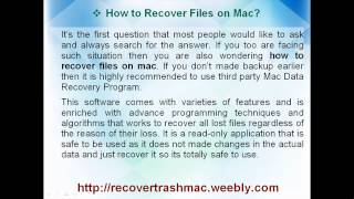 How To Recover Files on Mac - Complete Solution Out Now
