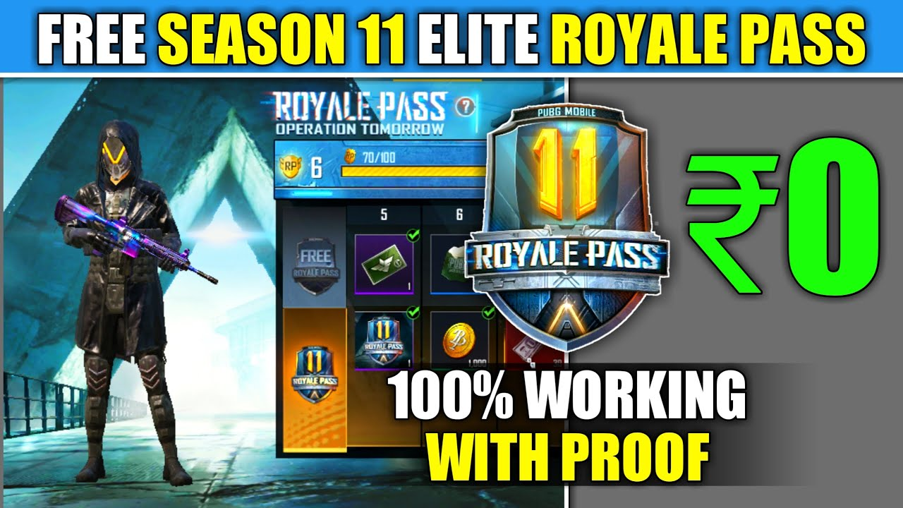 HOW TO GET FREE ROYALE PASS SEASON 11 IN PUBG MOBILE