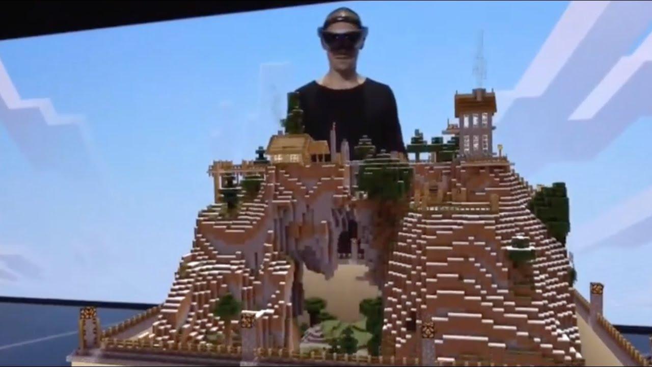 Minecraft Hololens Demo At E Amazing YouTube - Minecraft vr spielen