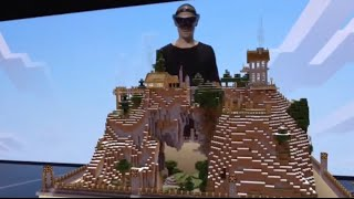 Minecraft Hololens demo at E3 2015 (amazing!)(Jump to the 2:25 mark. It's really awesome. Minecraft is a game we've seen countless times before. And yet! The virtual reality demo showcased by Microsoft ..., 2015-06-15T18:03:48.000Z)