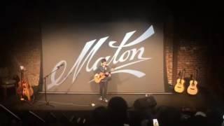 Tommy Emmanuel live showcasing Maton Guitars