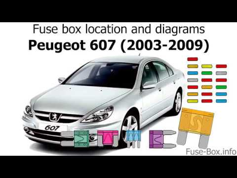 fuse box location and diagrams: peugeot 607 (2003-2009)