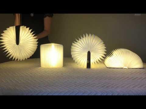 Inventan un libro que es capaz de convertirse en una lámpara