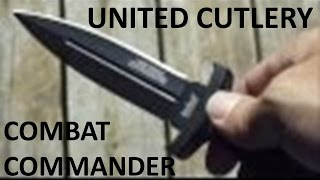 United Cutlery Combat Commander Black Boot Knife With Shoulder Holster - Review / Overview