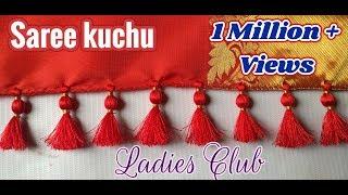 Saree Kuchu Making I How to make Saree Kuchu/ Tassels with Crystals & Beads I Tutorial for Beginners