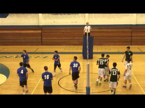 2016 04 21 SMHS Varsity boys Volleyball v Temple city net