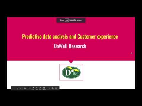 Predictive data analysis from DoWell Research
