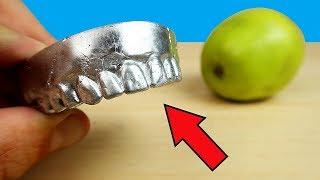 Сделал себе зубы из Галлия и откусил яблоко! Зубы Терминатора! alex boyko