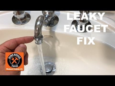 how-to-fix-a-leaky-faucet-(spout-leak!)-in-a-bathroom----by-home-repair-tutor