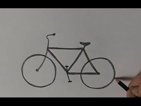 Как нарисовать велосипед с человеком