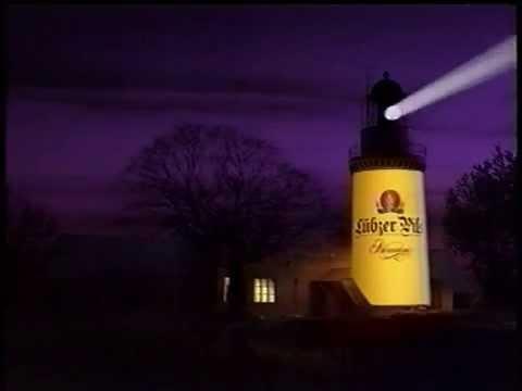 Lübzer Pils Werbung Leuchtturm 1996