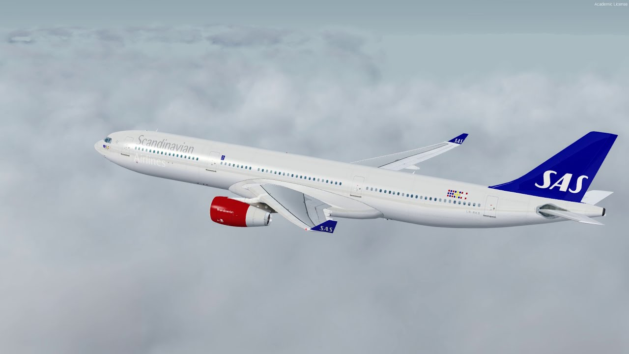 | P3dv4 1 | Blackbox A330 | Sas907 Departure Oslo! 60fps  Norshuttle 19:40  HD