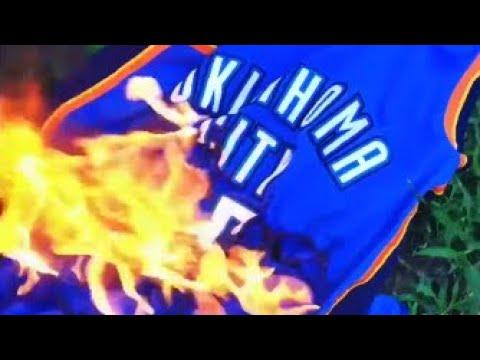 i put spongebob music over okc fans burning kd stuff