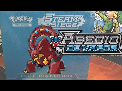 APERTURA ELITE TRAINER BOX! CARTAS POKÉMON ASEDIO DE VAPOR - Steam siege XY 11