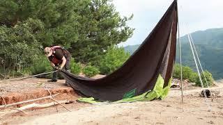[4k드론]무인도에서 잡은 쏘가리 | 캠핑요리 | 솔로…