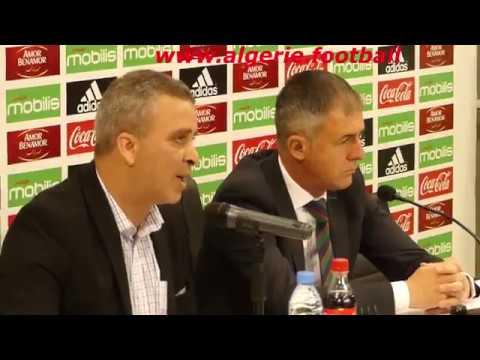 Equipe d'Algérie: Première conférence de presse du sélectionneur national, Lucas ALCARAZ