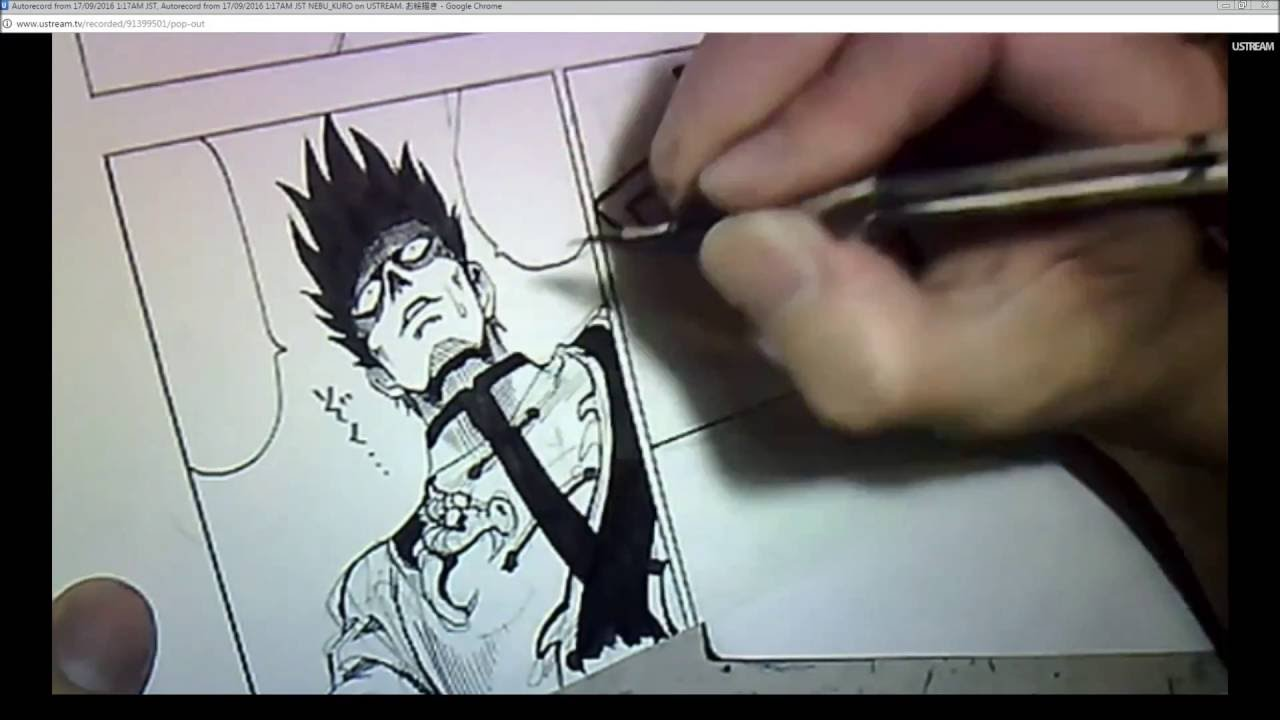 Yusuke Murata working on the latest One Punch Man Chapter [Chapter 66 Page  10]