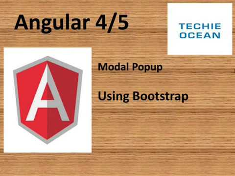 Angular 5 modal popup using bootstrap