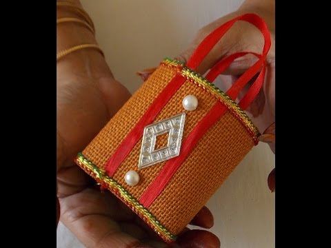 How To Make Decorative Jute Bag Jayashree Narayanan