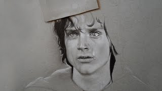 Frodo Baggins realistic drawing: Time lapse
