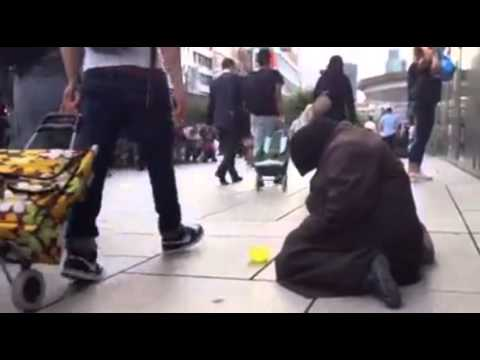Beggary in Frankfurt - Luxury Shopping Malls