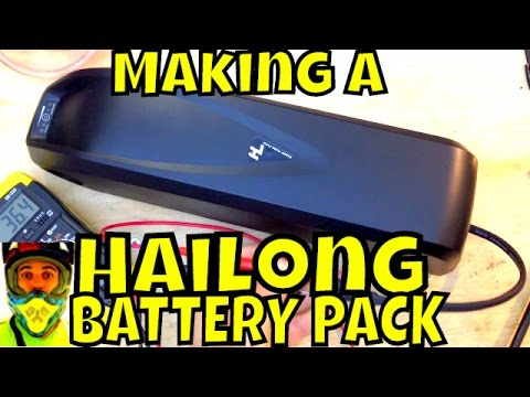 Making a Hailong battery pack (time lapse) - Electric Bike Battery - Shark pack / Jet pack