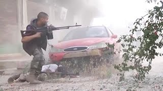 Raw: Soldiers Fight Militants in Benghazi