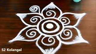 Freehand rangoli designs for diwali - Diwali kolam designs - freehand muggulu designs