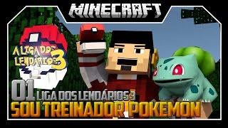 SOU TREINADOR POKEMON - LIGA DOS LENDÁRIOS 3 ‹ 01 / Minecraft ›