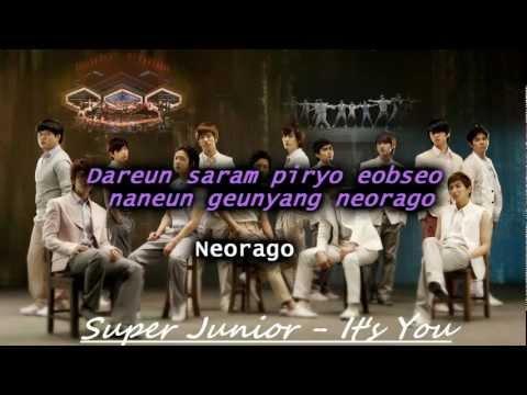 It's You - Super Junior (Karaoke/Instrumental)