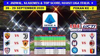 Jadwal Liga Italia Pekan Ke 2 Live RCTI ~ AS Roma VS Juventus Serie A Italia 2020/2021