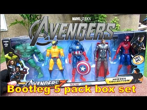 AVENGERS 5 pack bootleg box set (Raw video)