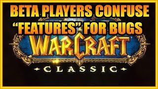 Players in the World of Warcraft Classic Beta Are Confusing Features for Bugs