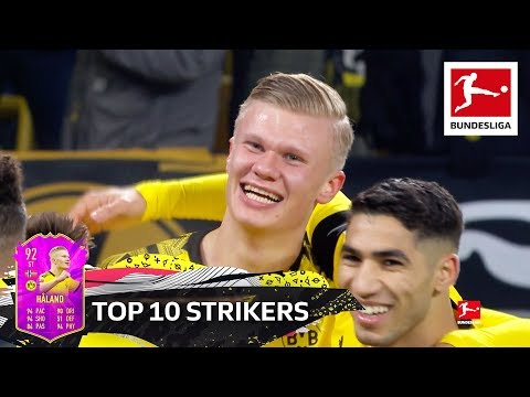 Top 10 Strikers - Haaland, Werner, Lewandowski & More | EA SPORTS FIFA 20