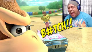 PLAYING WITH THE ENEMY!! [MARIO KART 8]