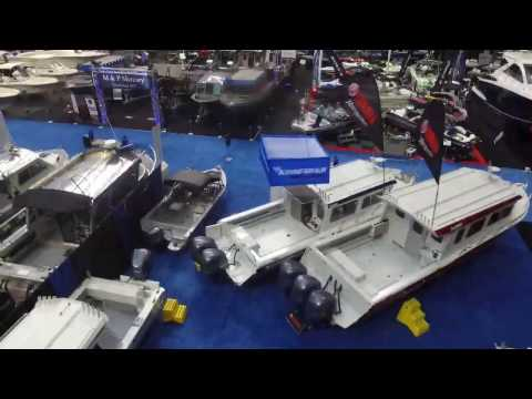 Kingfisher Boats 3425 Offshore Vancouver International Boat Show Drone Shot