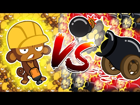 Bloons TD Battle | BOMBS TOWERS VS ENGINEERS - ARE ENGINEERS OVER POWERED?